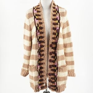 Anthro Sparrow Heavy Striped Cardigan